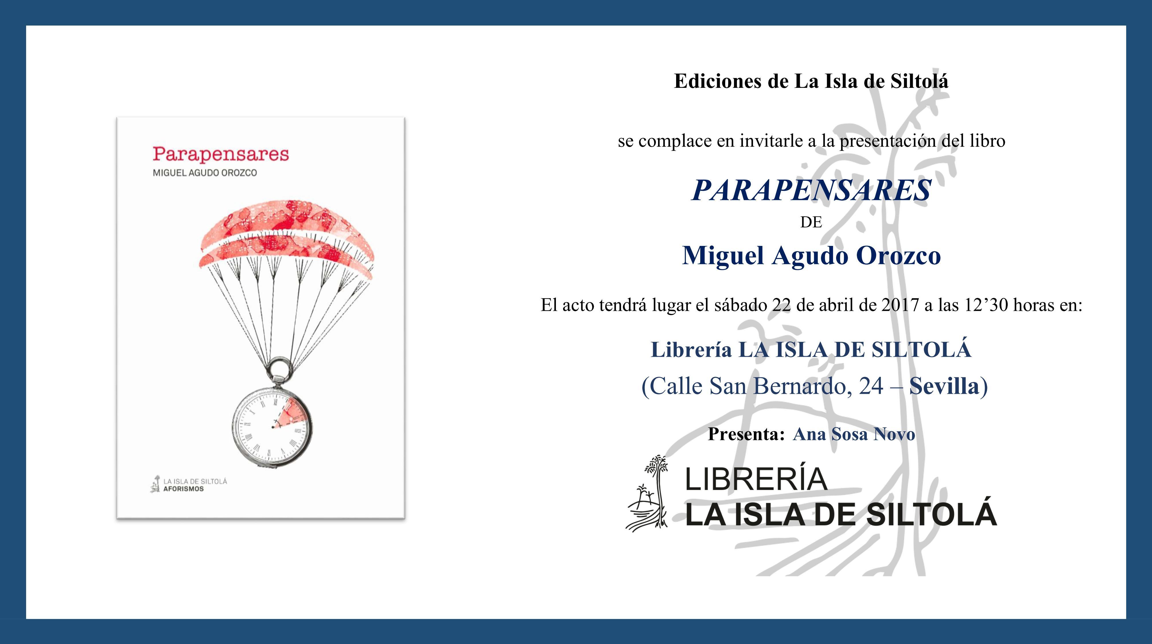 """Presentación del libro """"Parapensares"""", de Miguel Agudo Orozco."""