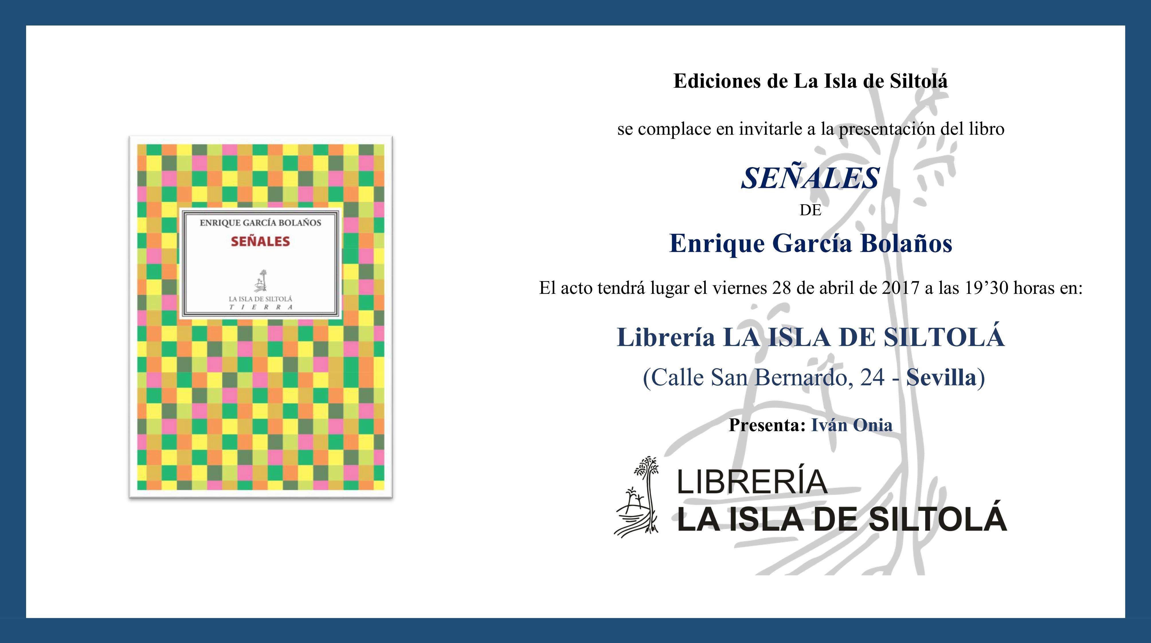 """Presentación del libro """"Señales"""", de Enrique García Bolaños"""