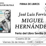Feria del libro de Sevilla. Firma de libros 26 de mayo