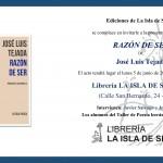 """Presentación del libro """"Razón de ser"""", de José Luis Tejada"""