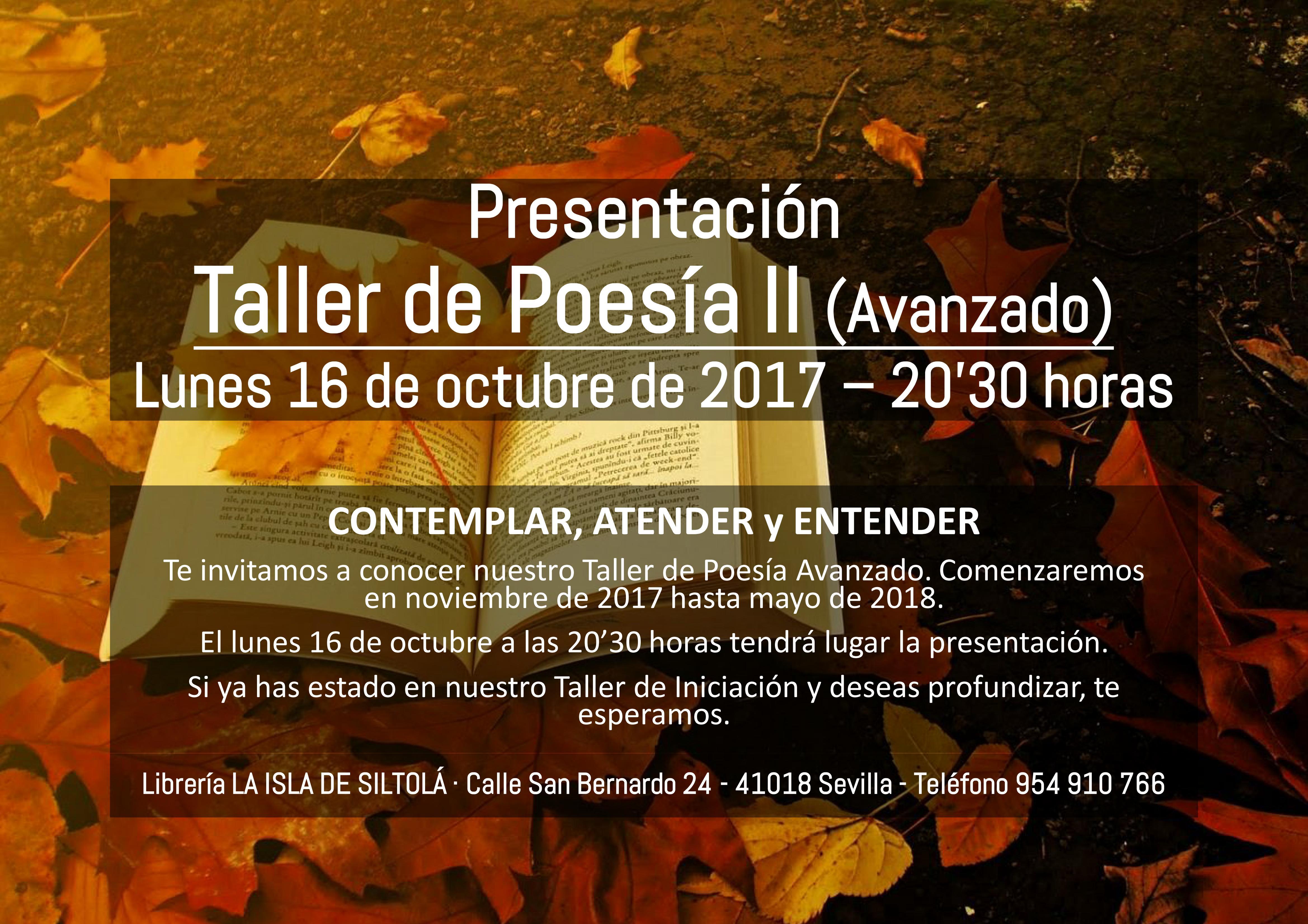 Presentación del Taller de Poesía II (avanzado)