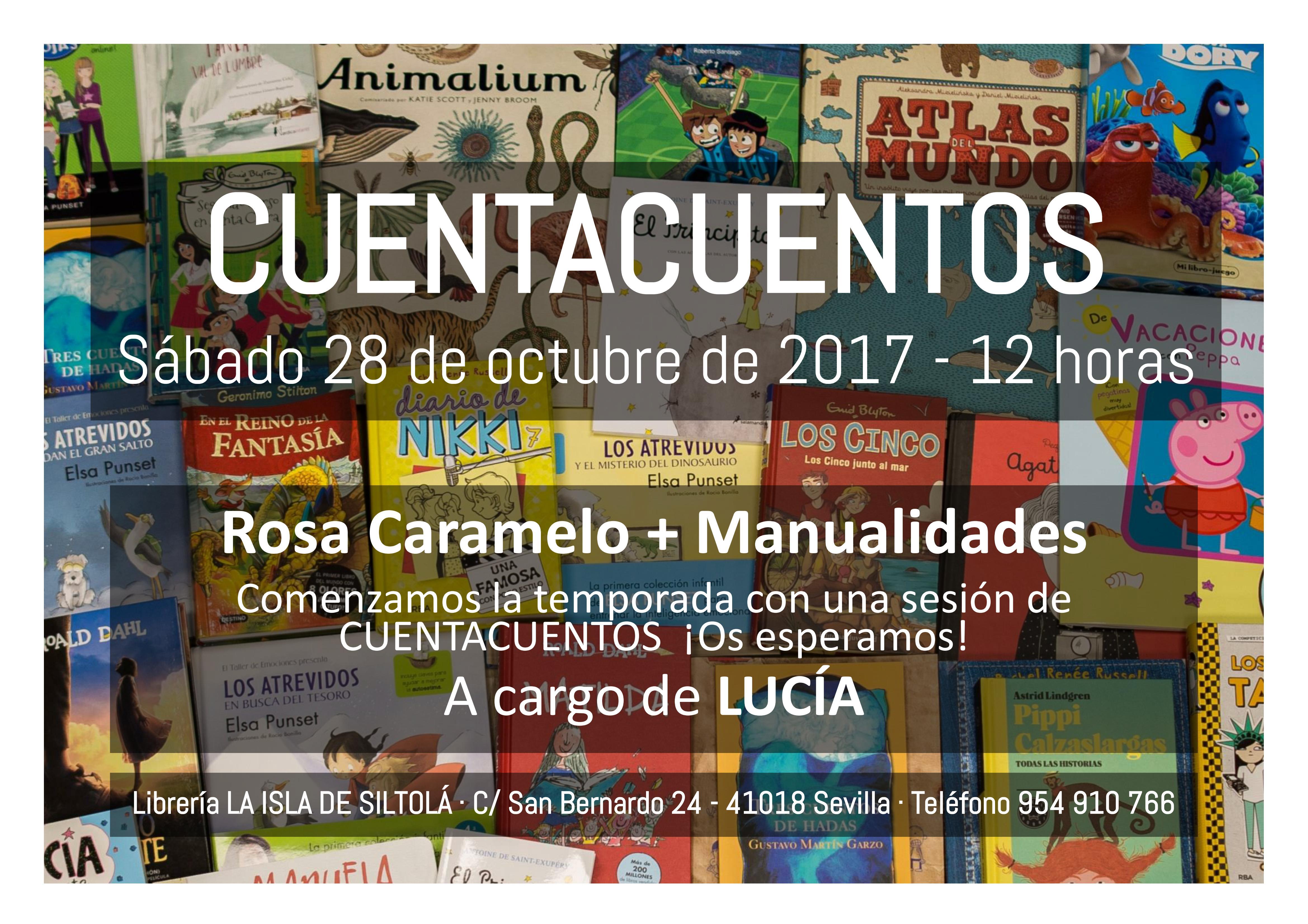 """Cuentacuentos """"Rosa Caramelo + Manualidades"""""""