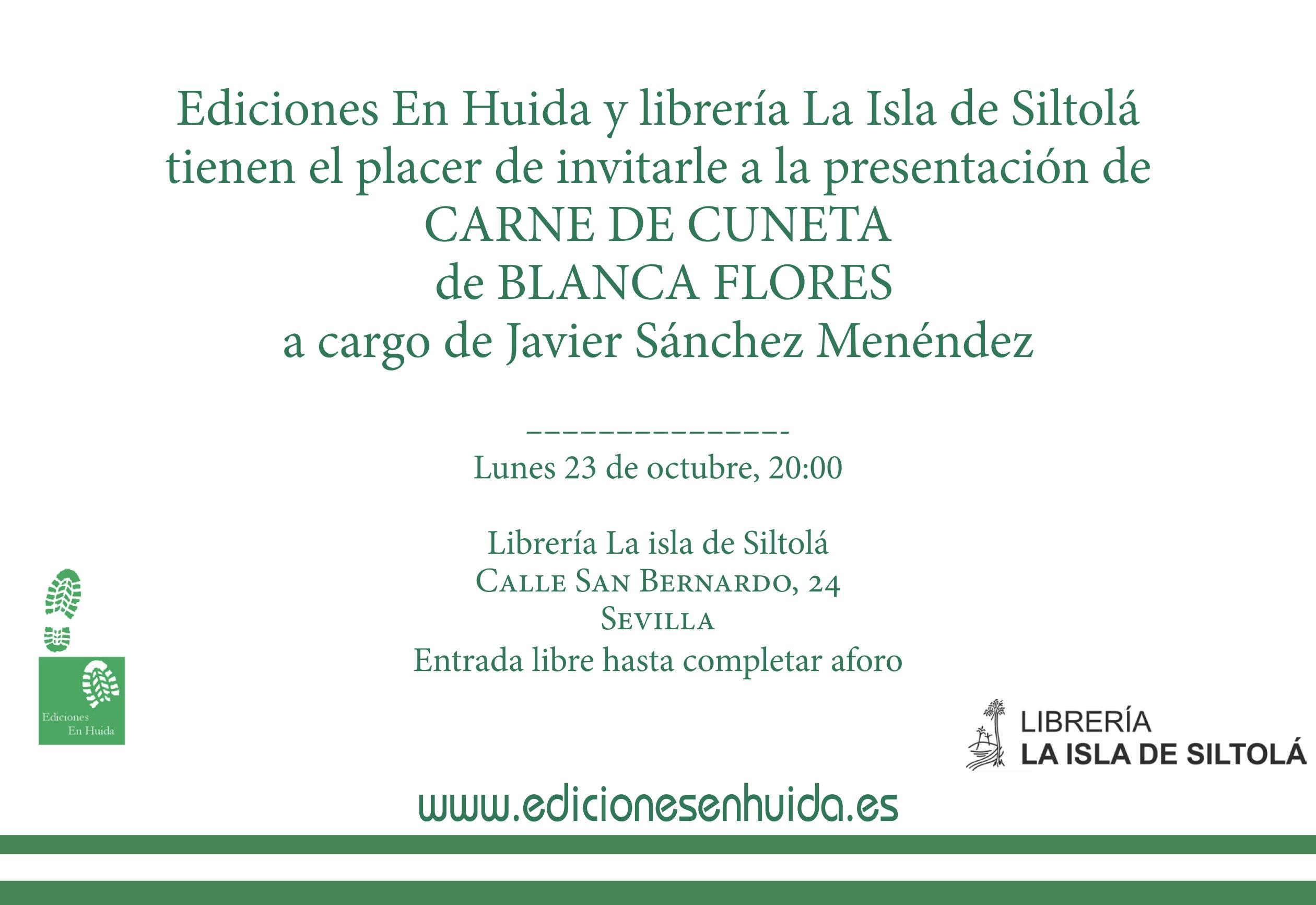 """Presentación de """"Carne de cuneta"""", de Blanca Flores"""