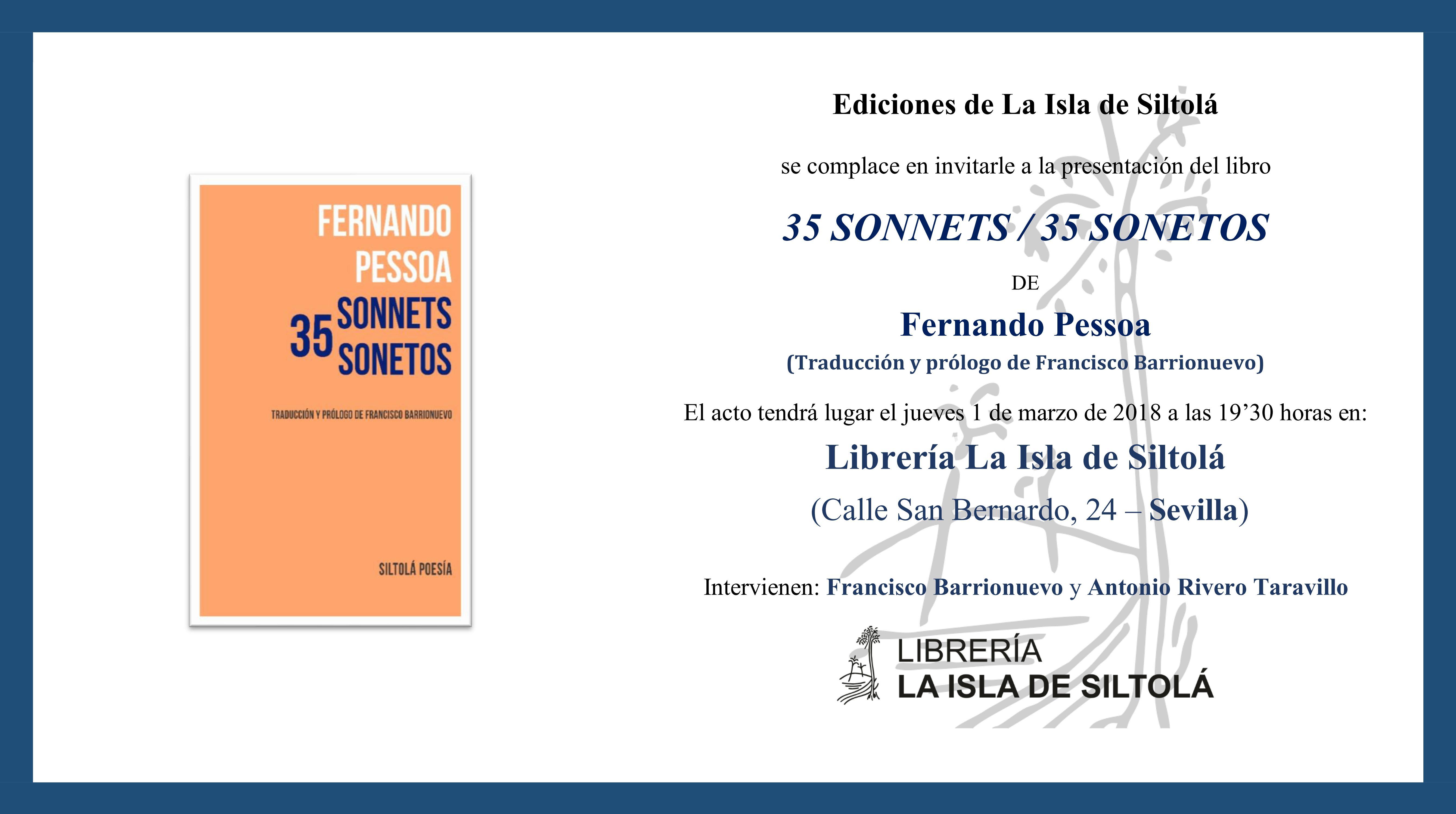"""Presentación de """"35 sonnets/ 35 sonetos"""", de Fernando Pessoa"""