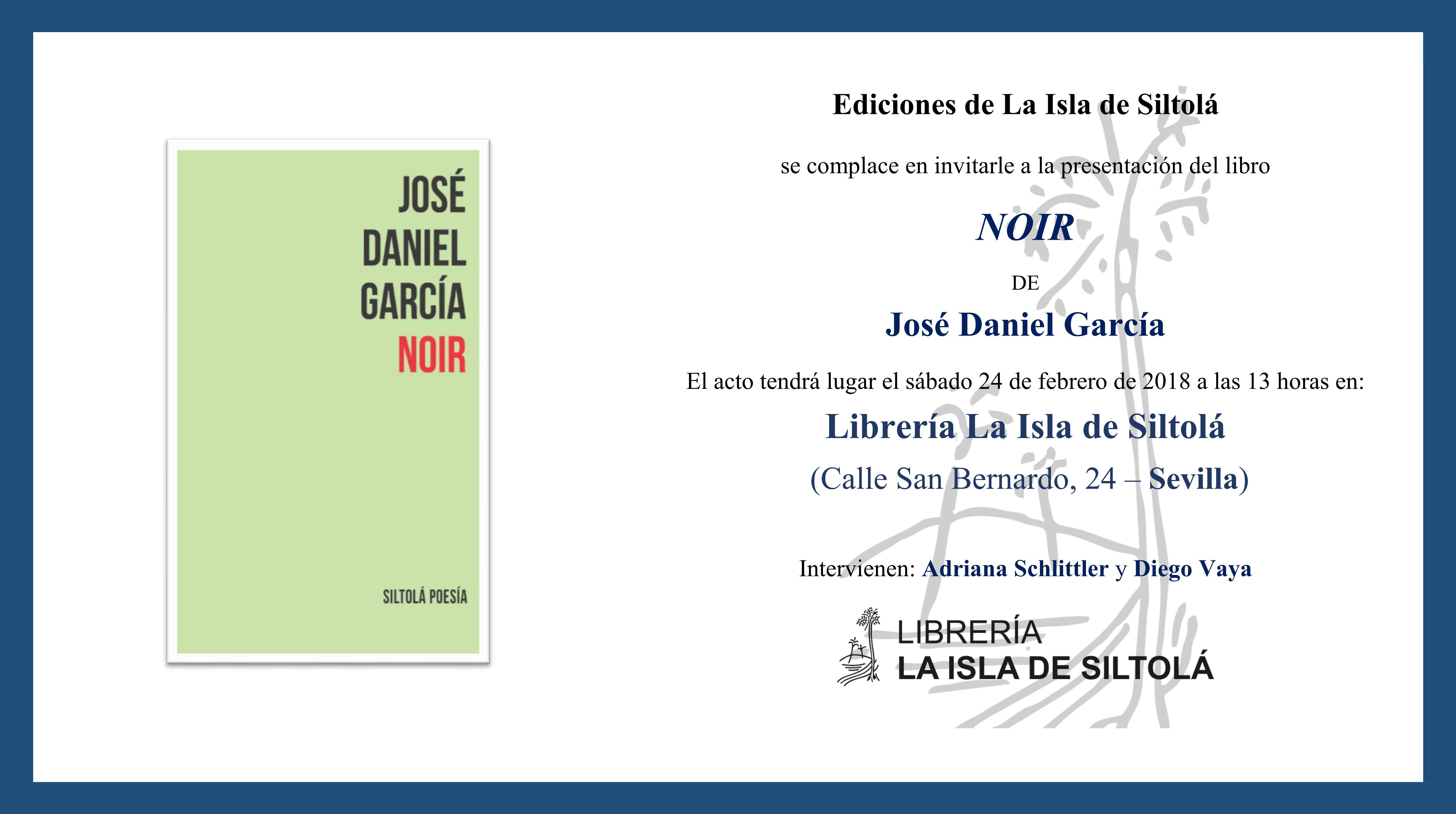 """Presentación de """"NOIR"""", de José Daniel García"""